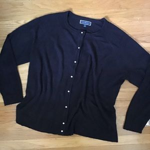 Karen Scott black cardigan 2X NWT